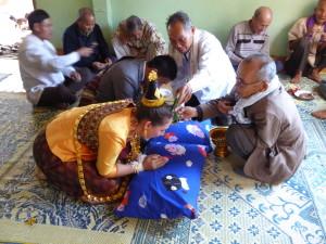 Elders wishing good luck in Somma ceremony